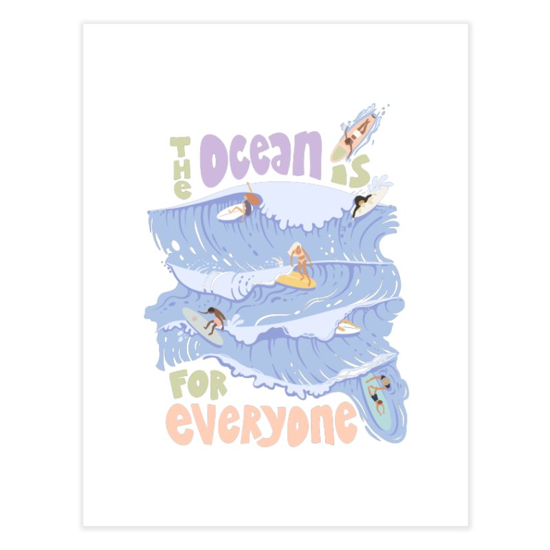 Kindness is Cool Home Fine Art Print by Chapman at Sea // surf art by Tash Chapman