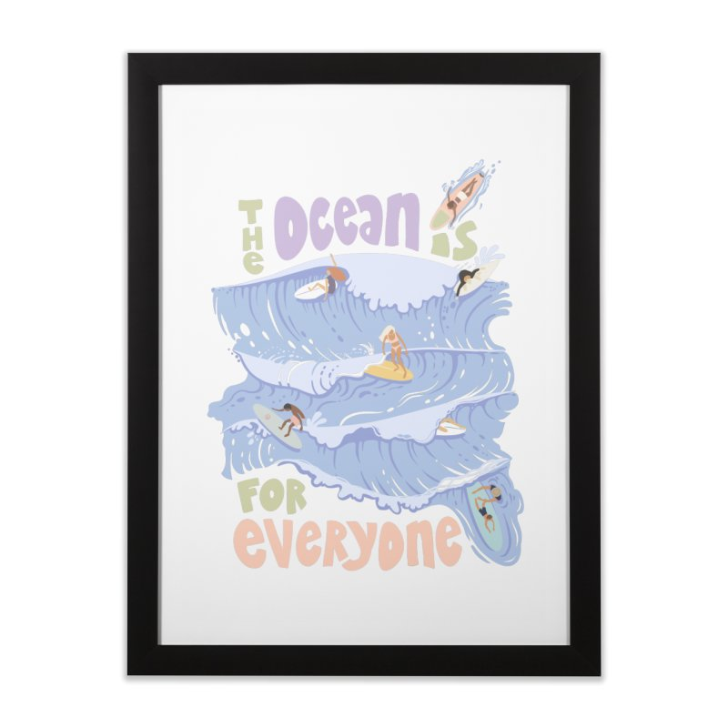Kindness is Cool Home Framed Fine Art Print by Chapman at Sea // surf art by Tash Chapman