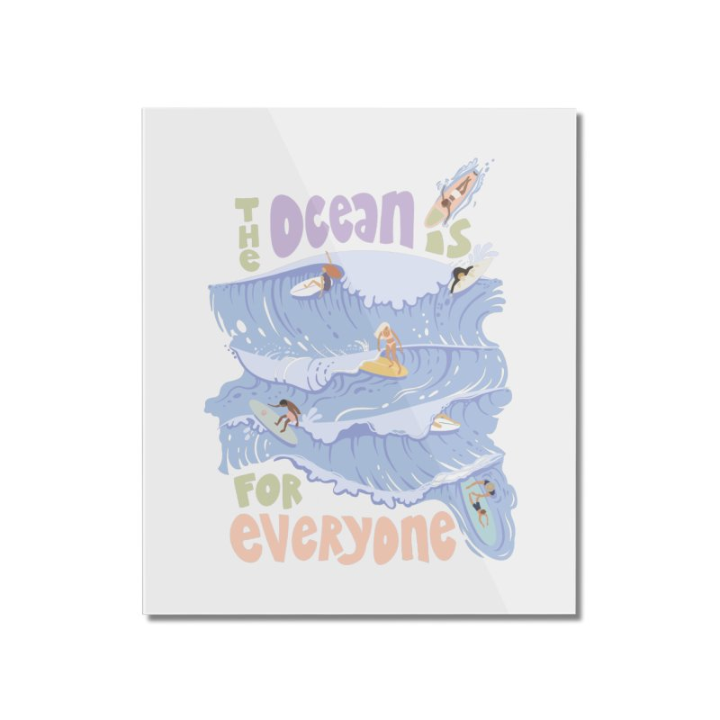 Kindness is Cool Home Mounted Acrylic Print by Chapman at Sea // surf art by Tash Chapman