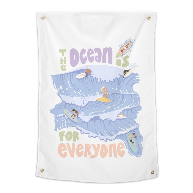 Kindness is Cool Home Tapestry by Chapman at Sea // surf art by Tash Chapman