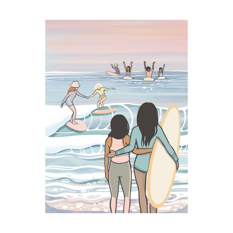 Mothers & Daughters of the Waves Accessories Bag by Chapman at Sea // surf art by Tash Chapman