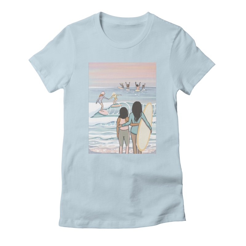 Mothers & Daughters of the Waves Women's T-Shirt by Chapman at Sea // surf art by Tash Chapman