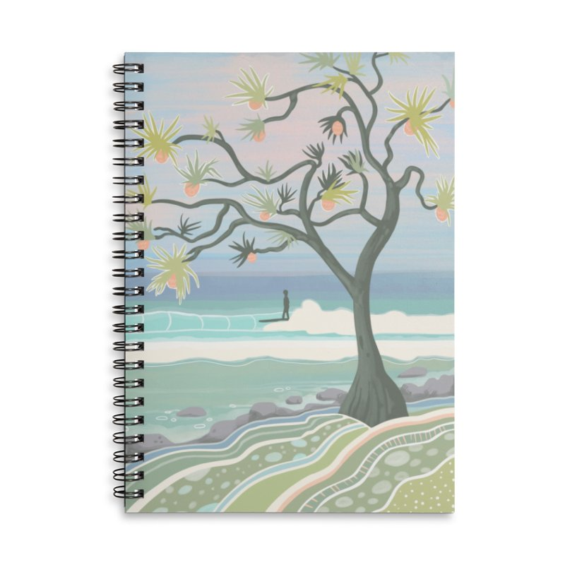 She and a Tree Accessories Notebook by Chapman at Sea // surf art by Tash Chapman