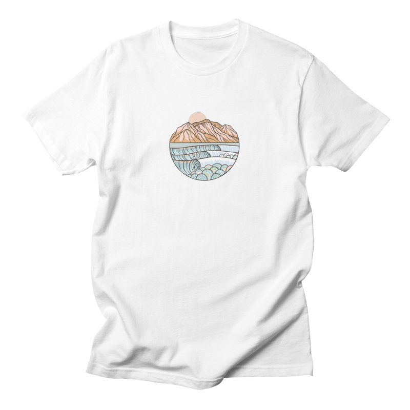 Where the Desert Meets the Sea Men's T-Shirt by Chapman at Sea // surf art by Tash Chapman