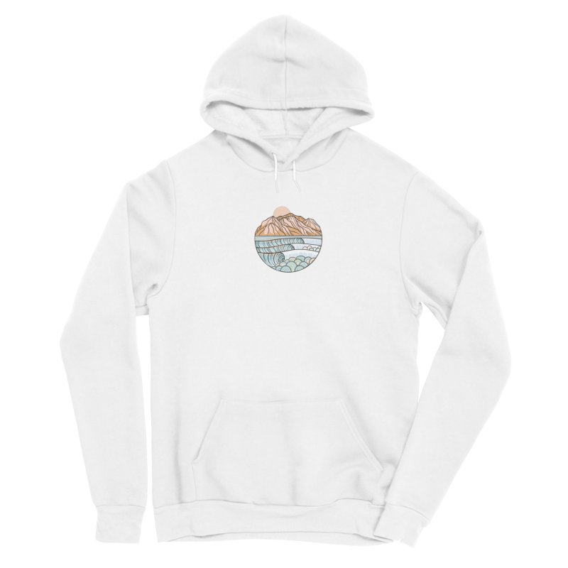 Where the Desert Meets the Sea Women's Pullover Hoody by Chapman at Sea // surf art by Tash Chapman
