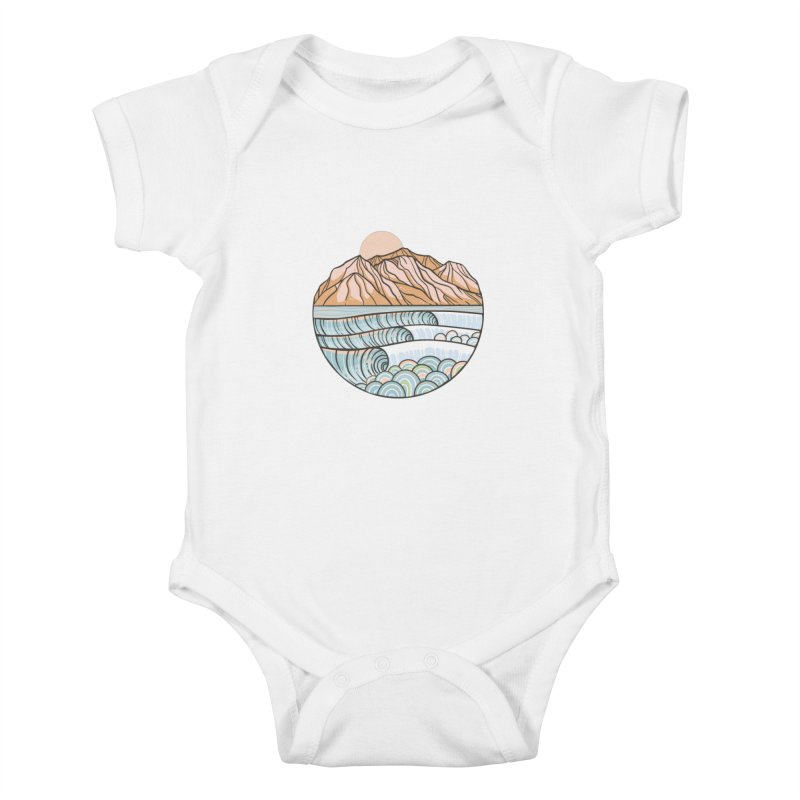 Where the Desert Meets the Sea Kids Baby Bodysuit by Chapman at Sea // surf art by Tash Chapman