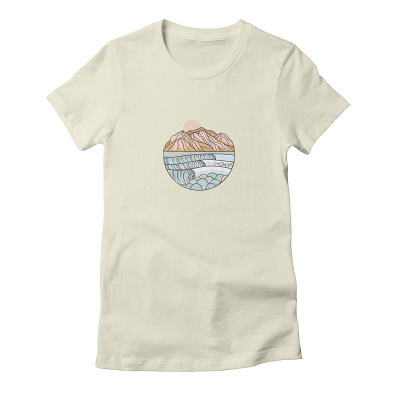 Where the Desert Meets the Sea Women's T-Shirt by Chapman at Sea // surf art by Tash Chapman
