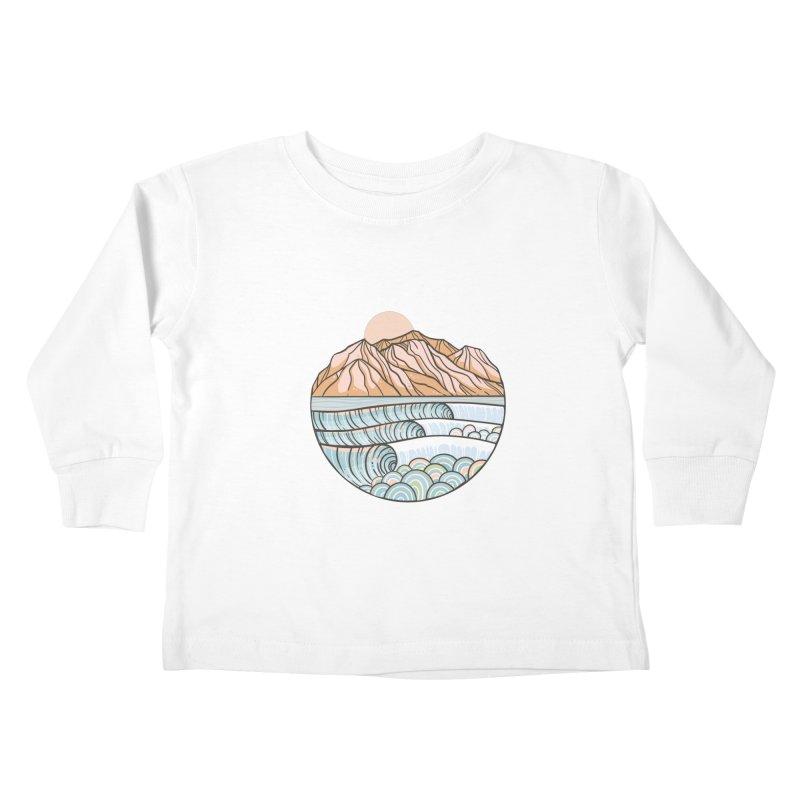 Where the Desert Meets the Sea Kids Toddler Longsleeve T-Shirt by Chapman at Sea // surf art by Tash Chapman