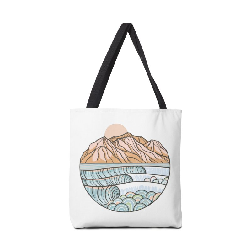 Where the Desert Meets the Sea Accessories Bag by Chapman at Sea // surf art by Tash Chapman