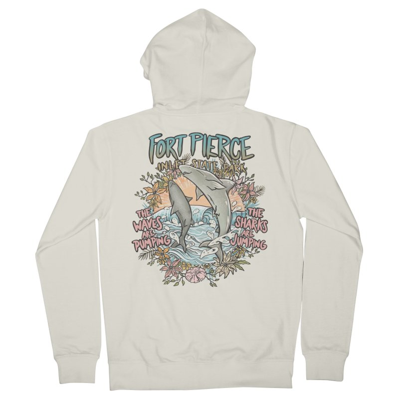 Spinner City Men's French Terry Zip-Up Hoody by Chapman at Sea // surf art by Tash Chapman