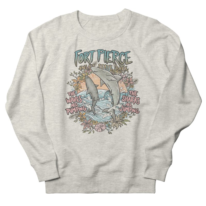 Spinner City Men's French Terry Sweatshirt by Chapman at Sea // surf art by Tash Chapman
