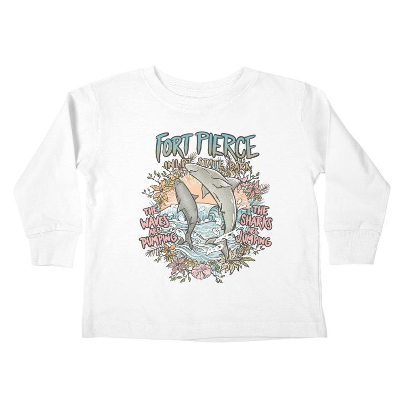 Spinner City Kids Toddler Longsleeve T-Shirt by Chapman at Sea // surf art by Tash Chapman