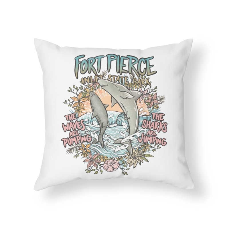 Spinner City Home Throw Pillow by Chapman at Sea // surf art by Tash Chapman