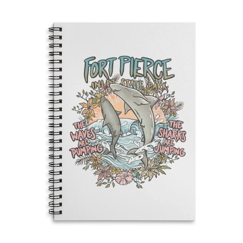Spinner City Accessories Lined Spiral Notebook by Chapman at Sea // surf art by Tash Chapman
