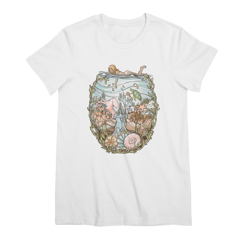 The Peace of Wild Things Women's Premium T-Shirt by Chapman at Sea // surf art by Tash Chapman