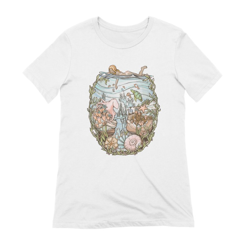 The Peace of Wild Things Women's Extra Soft T-Shirt by Chapman at Sea // surf art by Tash Chapman