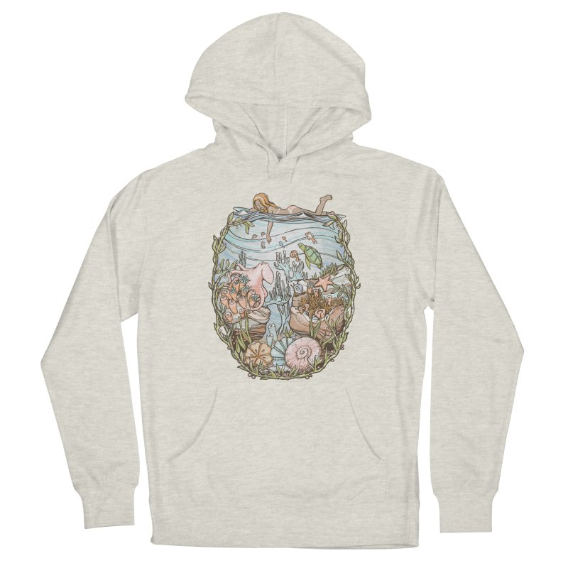 The Peace of Wild Things Men's French Terry Pullover Hoody by Chapman at Sea // surf art by Tash Chapman