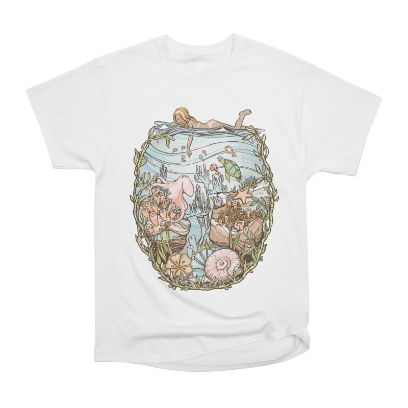 The Peace of Wild Things Men's Heavyweight T-Shirt by Chapman at Sea // surf art by Tash Chapman