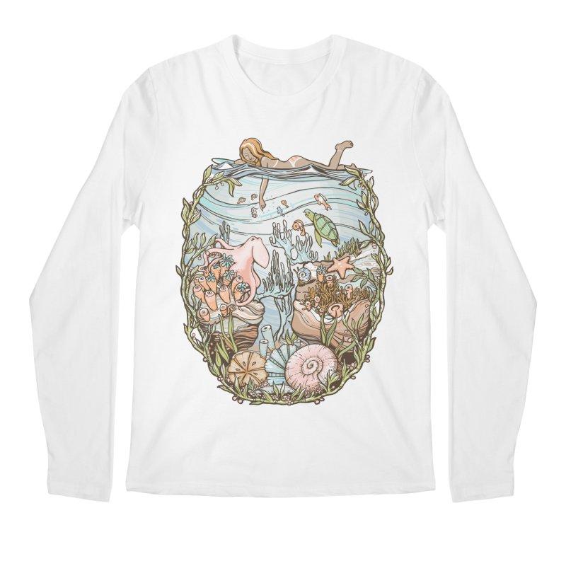 The Peace of Wild Things Men's Longsleeve T-Shirt by Chapman at Sea // surf art by Tash Chapman