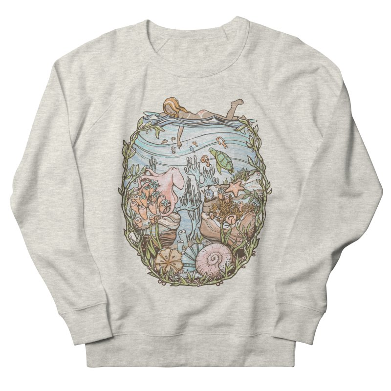 The Peace of Wild Things Women's French Terry Sweatshirt by Chapman at Sea // surf art by Tash Chapman