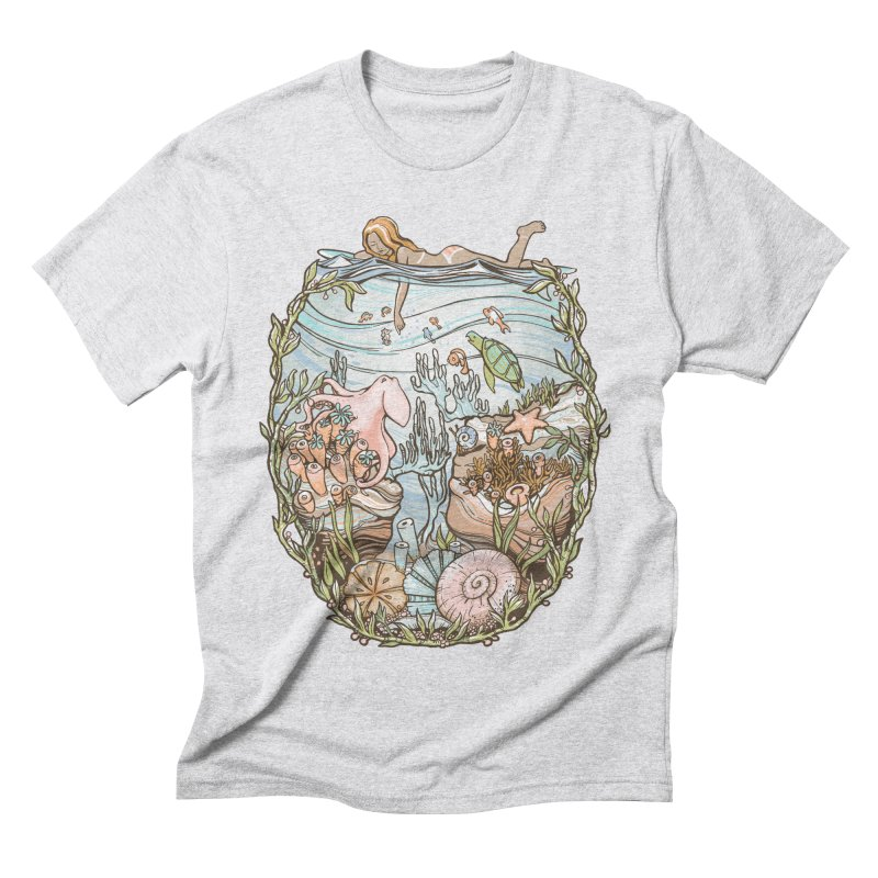 The Peace of Wild Things Men's Triblend T-Shirt by Chapman at Sea // surf art by Tash Chapman