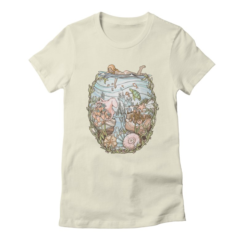 The Peace of Wild Things Women's T-Shirt by Chapman at Sea // surf art by Tash Chapman