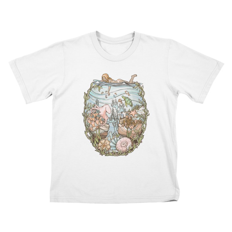 The Peace of Wild Things Kids T-Shirt by Chapman at Sea // surf art by Tash Chapman