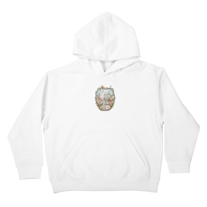 The Peace of Wild Things Kids Pullover Hoody by Chapman at Sea // surf art by Tash Chapman