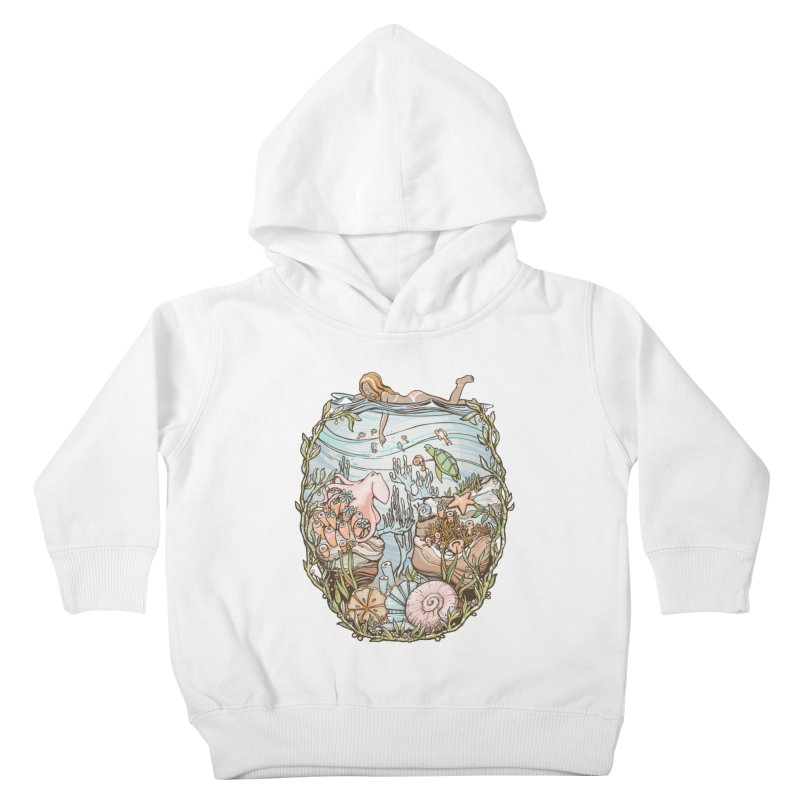 The Peace of Wild Things Kids Toddler Pullover Hoody by Chapman at Sea // surf art by Tash Chapman