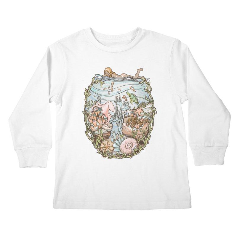 The Peace of Wild Things Kids Longsleeve T-Shirt by Chapman at Sea // surf art by Tash Chapman