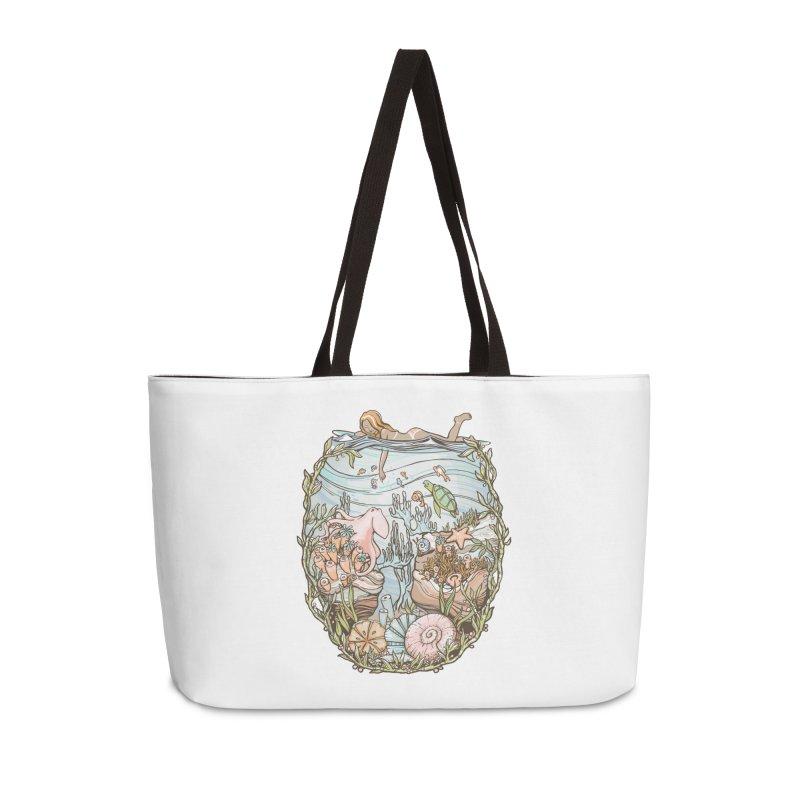 The Peace of Wild Things Accessories Weekender Bag Bag by Chapman at Sea // surf art by Tash Chapman