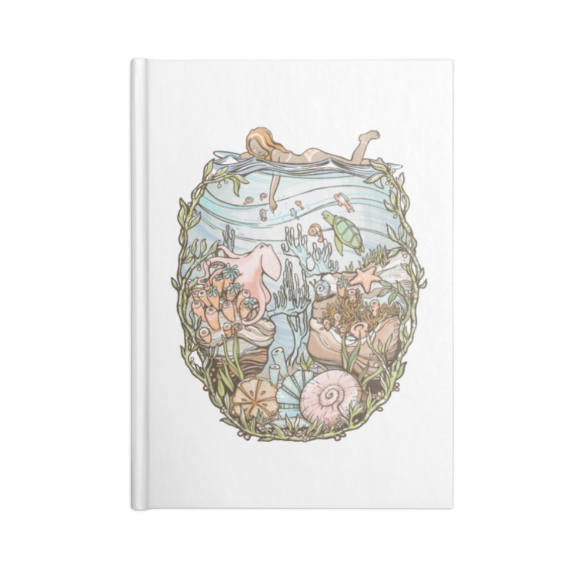 The Peace of Wild Things Accessories Blank Journal Notebook by Chapman at Sea // surf art by Tash Chapman