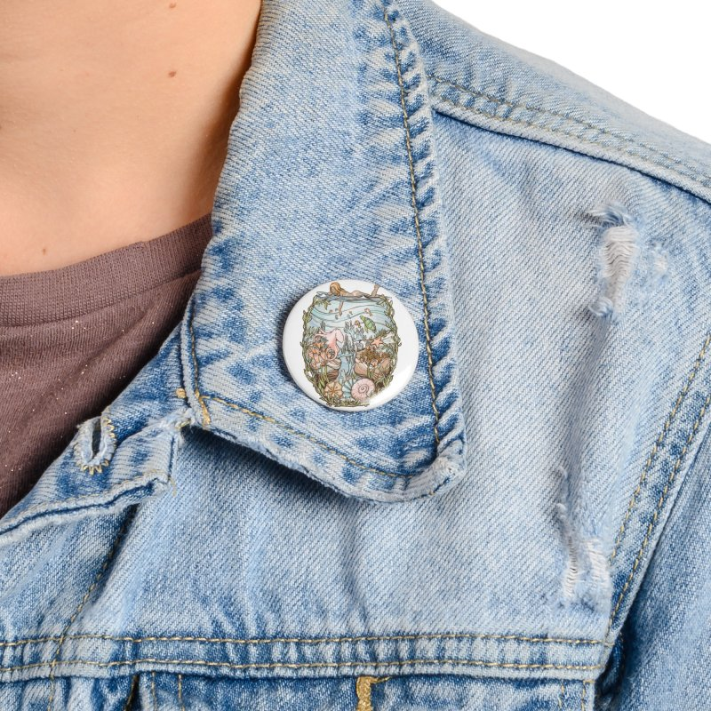 The Peace of Wild Things Accessories Button by Chapman at Sea // surf art by Tash Chapman