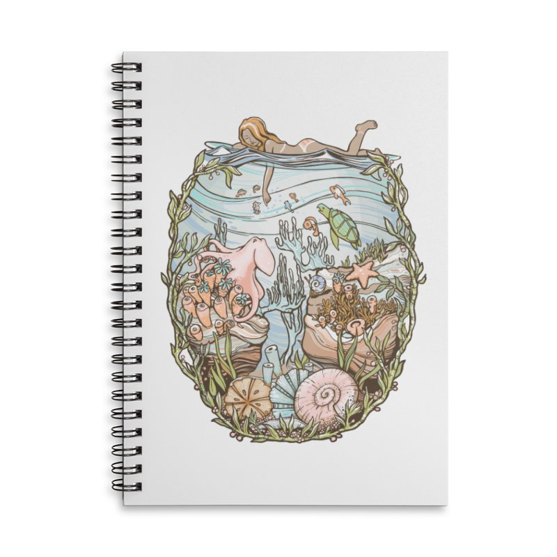 The Peace of Wild Things Accessories Lined Spiral Notebook by Chapman at Sea // surf art by Tash Chapman