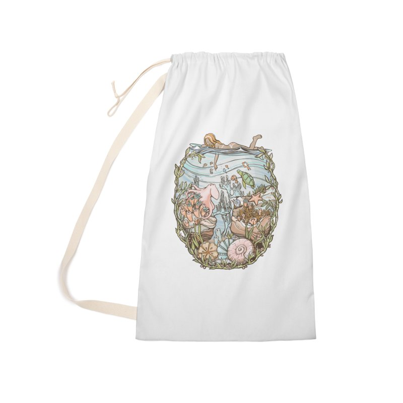 The Peace of Wild Things Accessories Laundry Bag Bag by Chapman at Sea // surf art by Tash Chapman