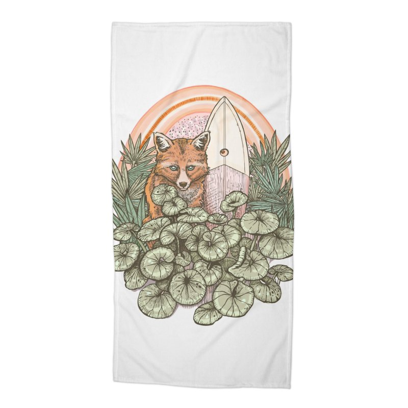 Retro Rider Accessories Beach Towel by Chapman at Sea // surf art by Tash Chapman