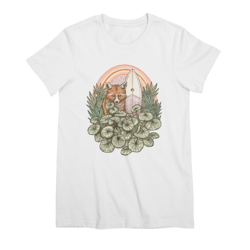 Retro Rider Women's Premium T-Shirt by Chapman at Sea // surf art by Tash Chapman