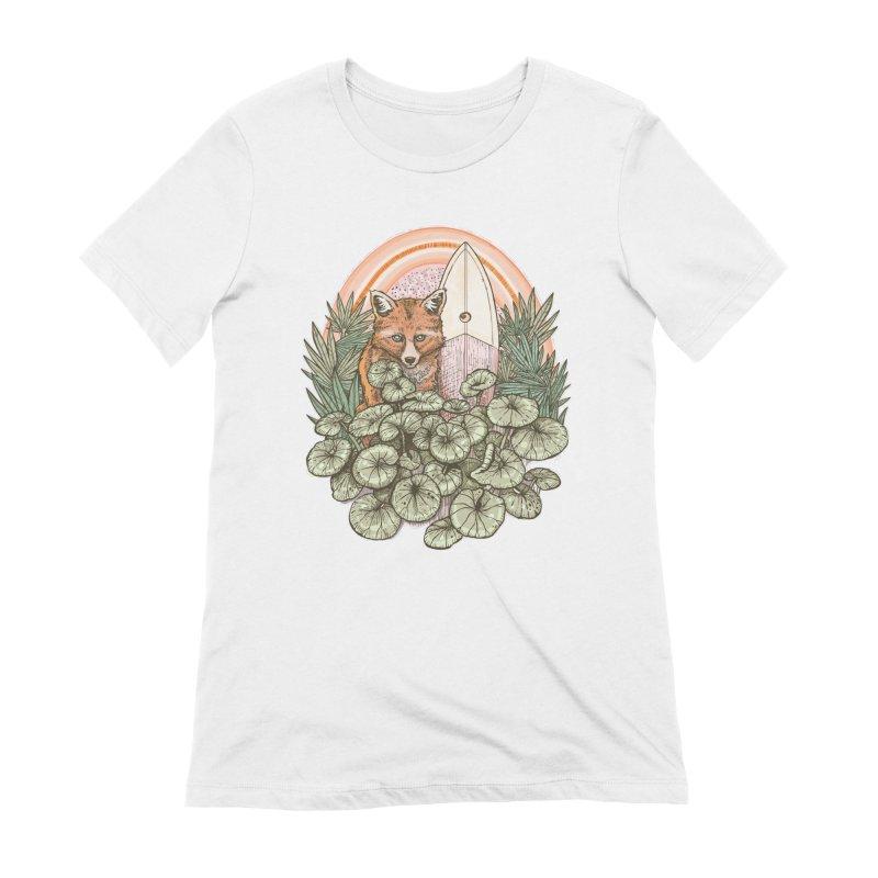 Retro Rider Women's Extra Soft T-Shirt by Chapman at Sea // surf art by Tash Chapman