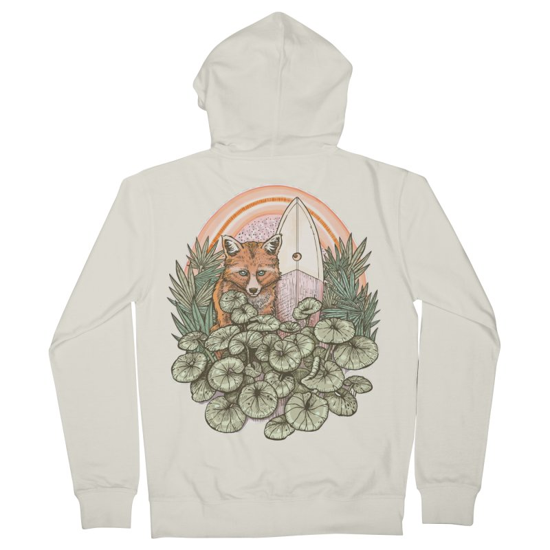 Retro Rider Men's French Terry Zip-Up Hoody by Chapman at Sea // surf art by Tash Chapman