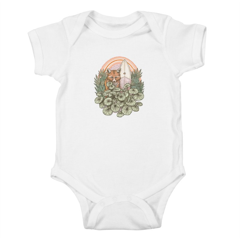 Retro Rider Kids Baby Bodysuit by Chapman at Sea // surf art by Tash Chapman