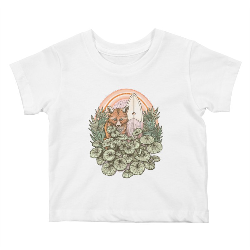 Retro Rider Kids Baby T-Shirt by Chapman at Sea // surf art by Tash Chapman