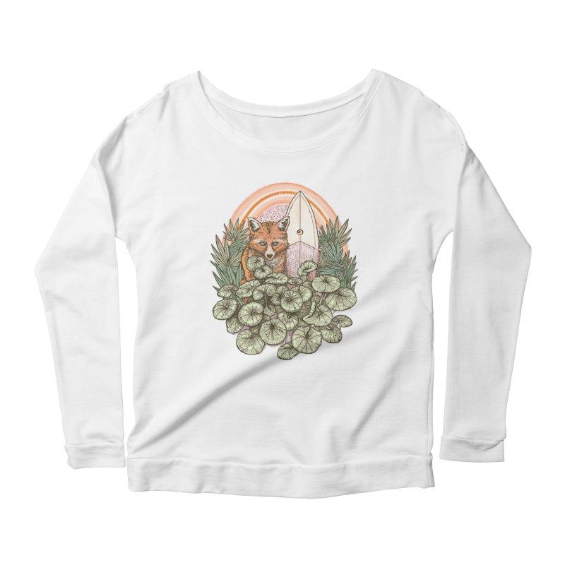 Retro Rider Women's Scoop Neck Longsleeve T-Shirt by Chapman at Sea // surf art by Tash Chapman