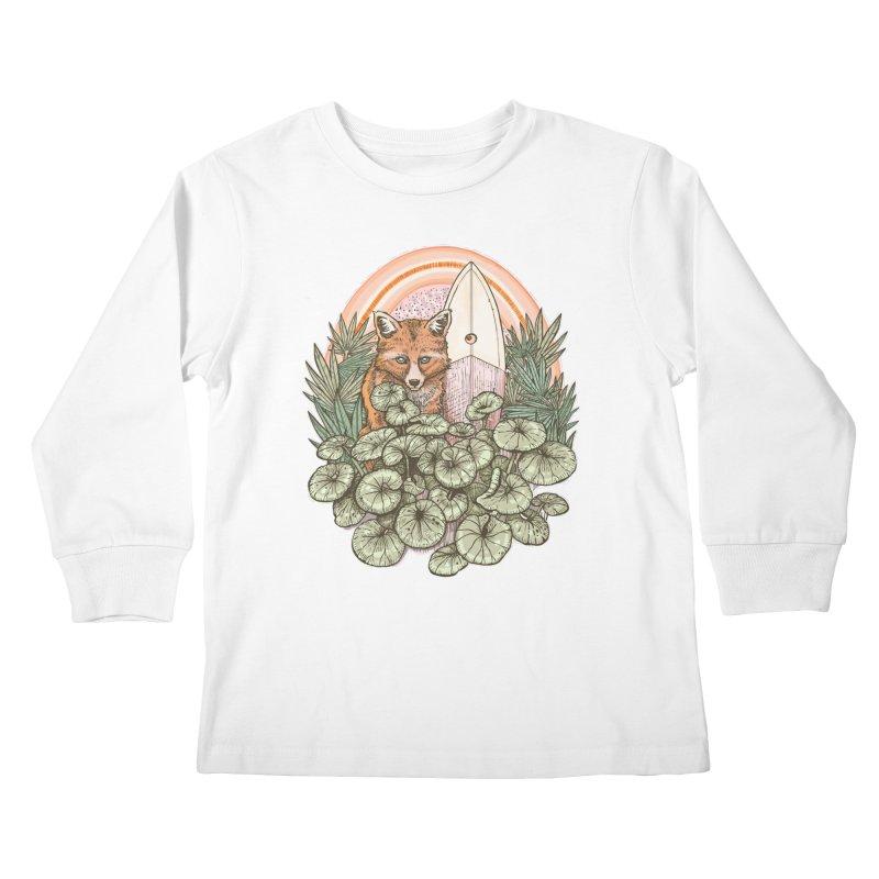 Retro Rider Kids Longsleeve T-Shirt by Chapman at Sea // surf art by Tash Chapman