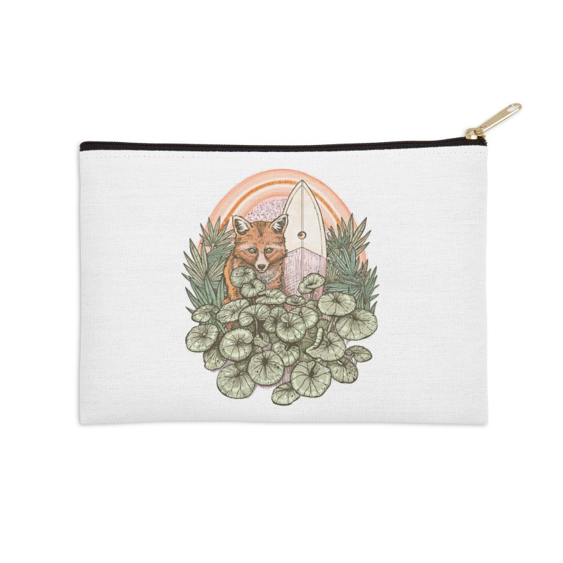 Retro Rider Accessories Zip Pouch by Chapman at Sea // surf art by Tash Chapman