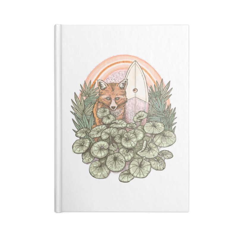 Retro Rider Accessories Blank Journal Notebook by Chapman at Sea // surf art by Tash Chapman