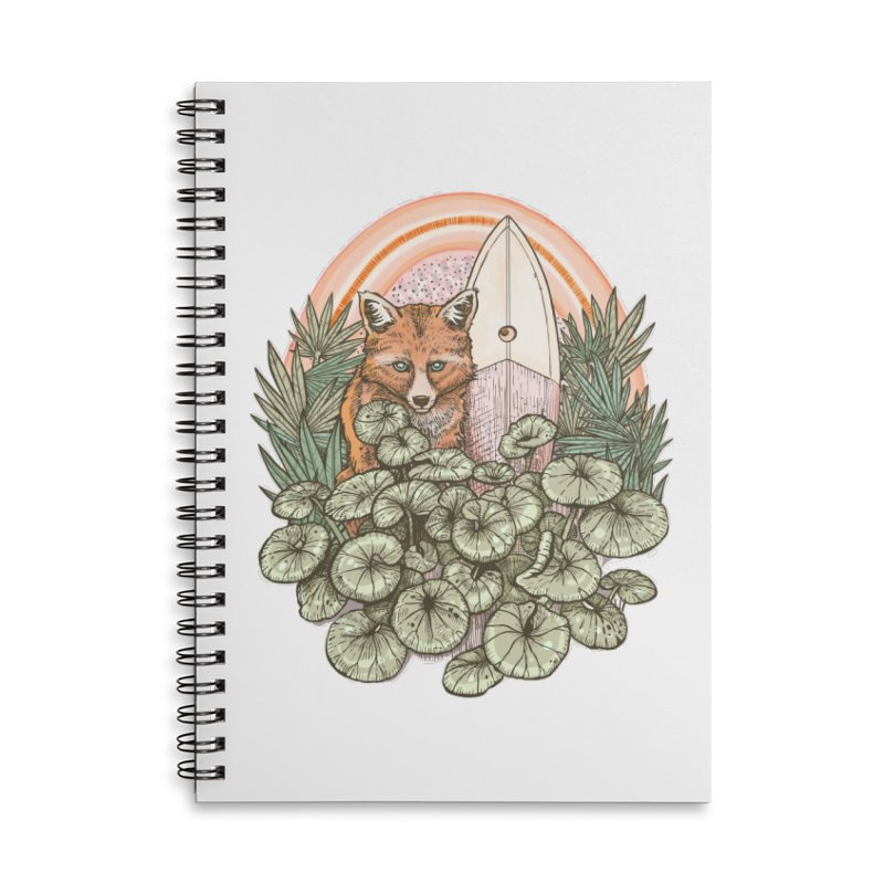 Retro Rider Accessories Lined Spiral Notebook by Chapman at Sea // surf art by Tash Chapman