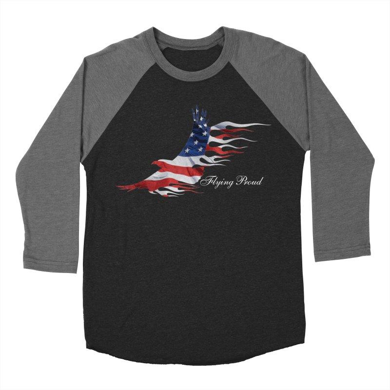 Flying  Proud Men's Baseball Triblend Longsleeve T-Shirt by Taterskinz