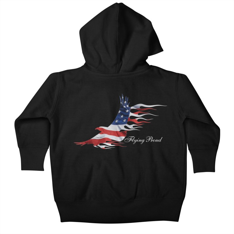 Flying  Proud Kids Baby Zip-Up Hoody by Taterskinz