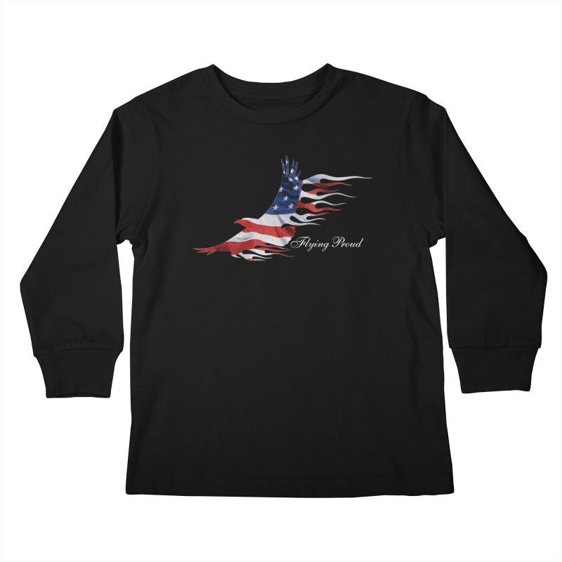 Flying  Proud Kids Longsleeve T-Shirt by Taterskinz