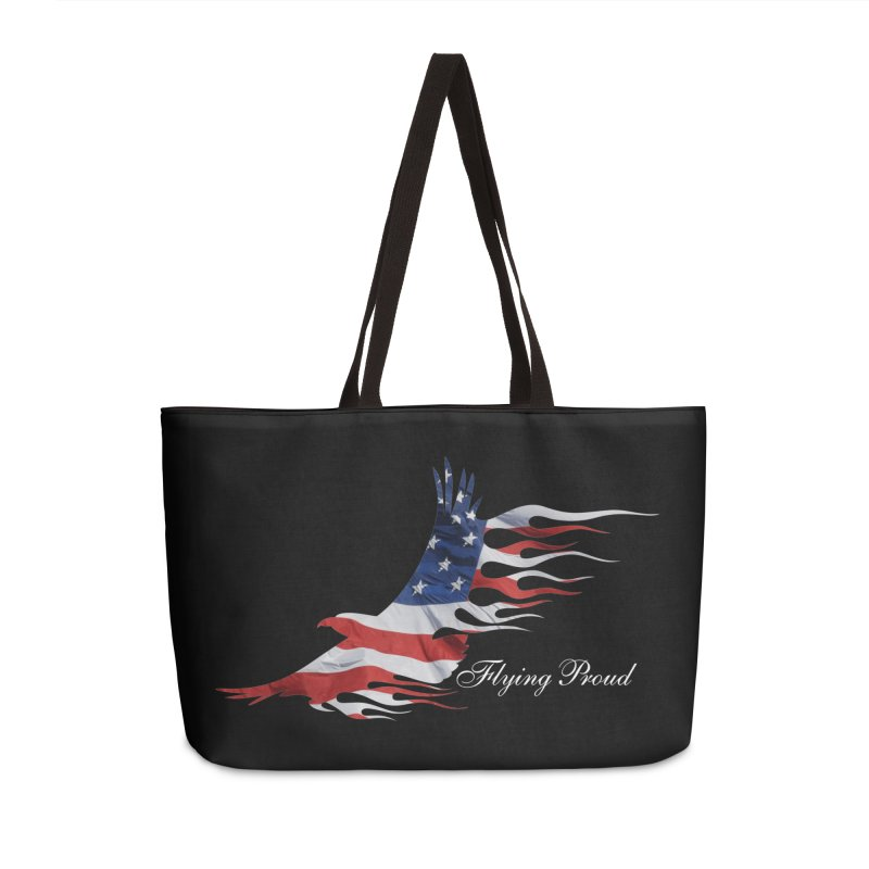 Flying  Proud Accessories Weekender Bag Bag by Taterskinz